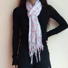 Pashmina White Striped