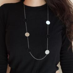 Necklace Chain Circles Silver