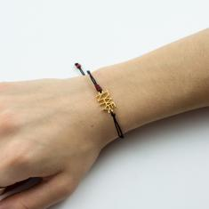 "Bracelet Black ""TWENTY"" Gold"