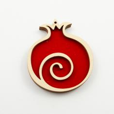 Pomegranate Spiral Red Suede 8.5x10cm