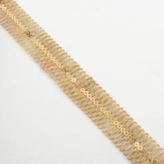 Jute Ribbon Natural Tinsel Rose Gold