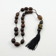 Worry Wooden Beads Owl
