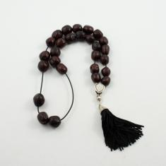 Worry Beads Nutmeg Burgundy Twisted