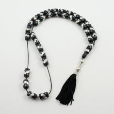 Worry Beads Ebony Dots Star
