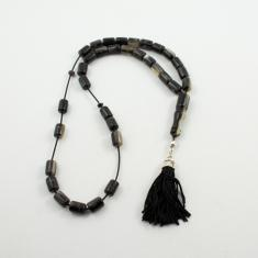 Worry Beads Goat Dark Oval