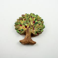 Ceramic Tree Colored 12.5x13cm