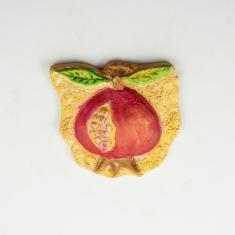 Ceramic Plate Pomegranate Colored