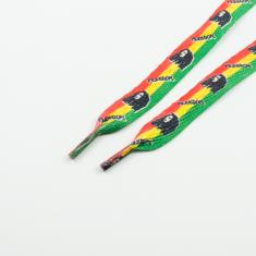 Shoelaces Bob Marley 1.2cm