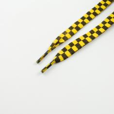 Shoelaces Checkered Yellow Black