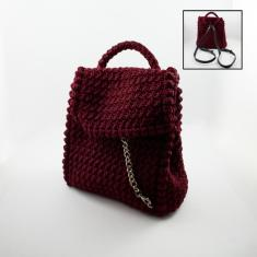 Knitted Bachpack Bordeaux