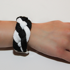 Bracelet Mountaineering Black White