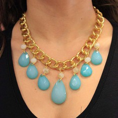 Necklace Chain Tears Light Blue