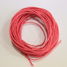Waxed Cotton Cord Pink (5m)
