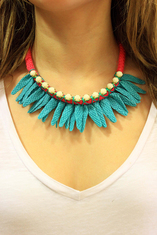 Necklace with Braid Turquoise