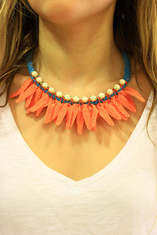 Necklace with Braid Orange