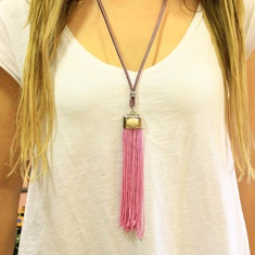 Necklace with Lilac Tassel
