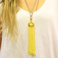 Necklace with Yellow Tassel