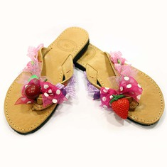 "Leather Flip Flops ""Fruits"""