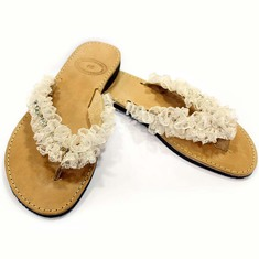 "Leather Flip Flops ""Lace"""