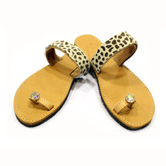 "Leather Flip Flops ""Animal"""