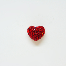 Heart with Strass Red
