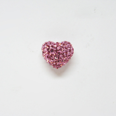 Heart with Strass Pink