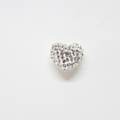 Heart with Strass White
