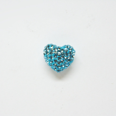 Heart with Strass Turquoise