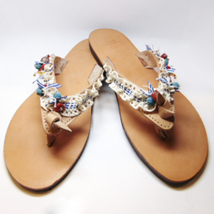 "Leather Flip Flops ""Sandy Beach"""