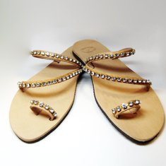 "Sandals ""Crystal Stones"""