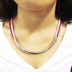Necklace Purple-Pink with Tube