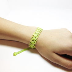"Lace bracelet ""Daisy"" Light Green"