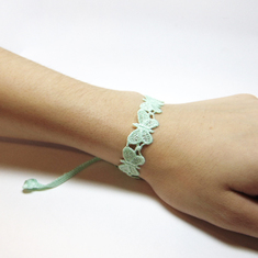 "Lace Bracelet ""Butterfly"" Light Green"