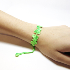 "Lace Bracelet ""Butterfly"" Bright Green"