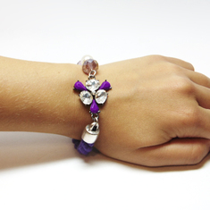 "Bracelet Purple ""Flower"""