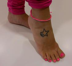 Anklet Pink Fluo with Rhinestones