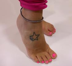 Anklet Yellow with Silver Rhinestones