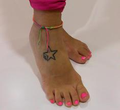 Anklet Multicolored with Rhinestones