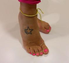 Anklet Yellow with Rhinestones