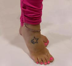 Anklet Purple with Rhinestones