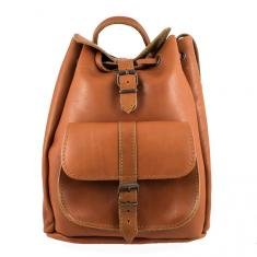 Tan Leather Backpack (31x24cm)
