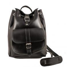 Leather Backpack Black (31x24cm)