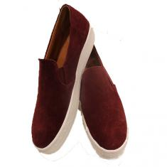 "Shoes ""Slip on"" Burgundy"