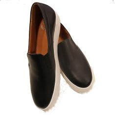 "Black Leather Shoes ""Slip on"""