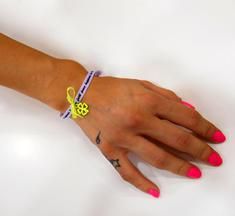 Wishes Bracelet Four Leaf Clover Yellow
