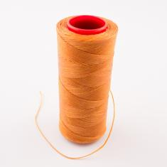 Waxed Cotton Cord Light Orange 100m