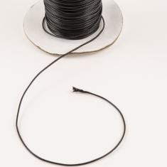 Waxed Linnen Cord Black (0.5mm)