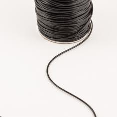 Waxed Linnen Cord Black (1.5mm)