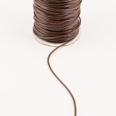 Waxed Linnen Cord Dark Brown 1.5mm