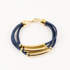 Mountaineering Bracelet Triple Blue